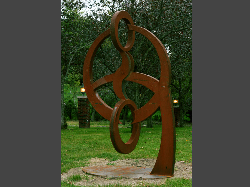 Metal sculpture artists outdoor the - Large yard art sculptures ...